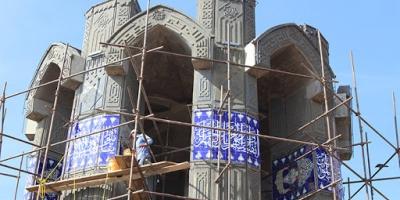ساخت یادبود شهید مدافع حرم کردستان در روستای میهم سفلی