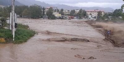 خسارات ناشی از سیلاب در رودخانه لیسار بر روی آببندهای زمینهای کشاورزی
