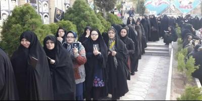 لبیک به رهبری و شهدا با حضور پای صندوقهای رأی