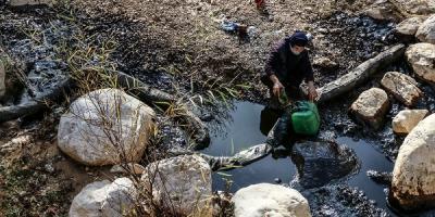 مردم سرخون از آلودگی نفتی رنج میبرند