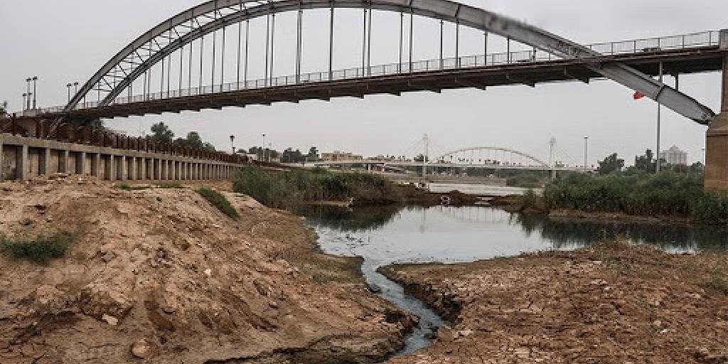 خوزستان تشنه است؛ انتقال آب را متوقف کنید>         </div>         <div class=