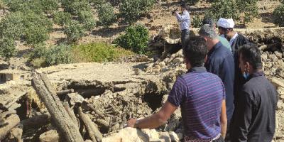 حضور طلاب جهادی در مناطق زلزلهزده شهرستان اندیکا